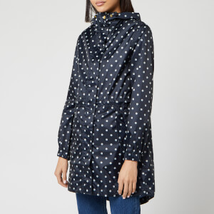 Joules Women's Golightly Printed Waterproof Packaway Jacket - Navy Spot