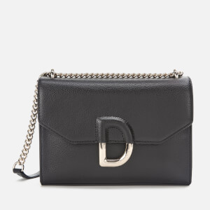 DKNY Women's Von Flap Shoulder Bag - Black/Gold