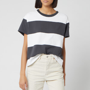 Levi's Women's Rugby Stripe Parker Short Sleeve T-Shirt - Black/White