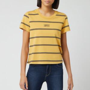 Levi's Women's Graphic Surf Short Sleeve T-Shirt - Yellow Stripe