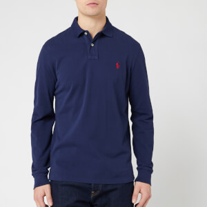 Polo Ralph Lauren Men's Custom Slim Fit Long Sleeve Polo Shirt - Navy
