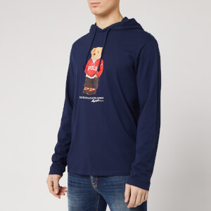 Polo Ralph Lauren Men's Bear Logo Pop Over Hooded Top - Cruise Navy
