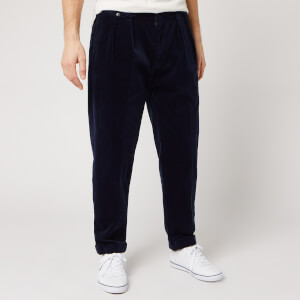 Polo Ralph Lauren Men's Pleated Cord Trousers - Cruise Navy