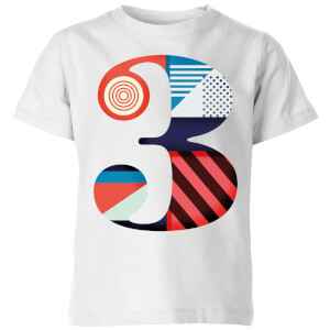 3 Kids' T-Shirt - White
