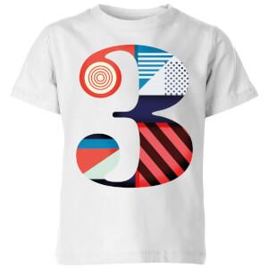 3 Kids' T-Shirt - White