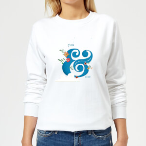 You & Me Women's Sweatshirt - White