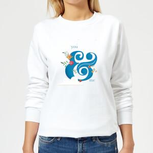 You & Me Women's Sweatshirt - White