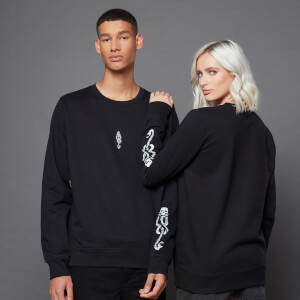 Harry Potter The Dark Arts The Dark Mark Tattoo Sweatshirt With Embroidery- Black