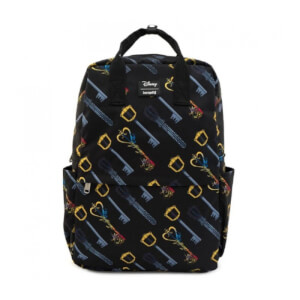 Loungefly Disney Kingdom Hearts Keys Aop Square Nylon Backpack