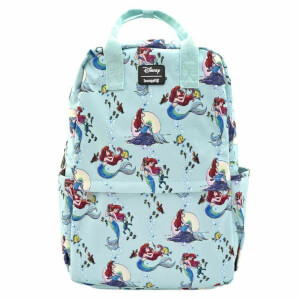 Loungefly Disney Ariel Scenes Aop Nylon Square Backpack