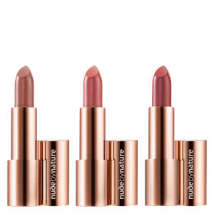 nude by nature Glimmer Moisture Shine Lipstick Trio
