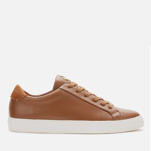 Kurt Geiger London Men's Donnie Leather Cupsole Trainers - Tan