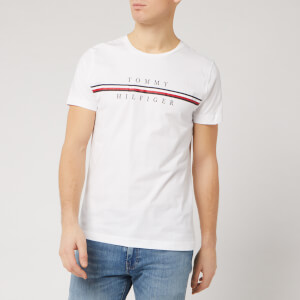 Tommy Hilfiger Men's Split Logo T-Shirt - White