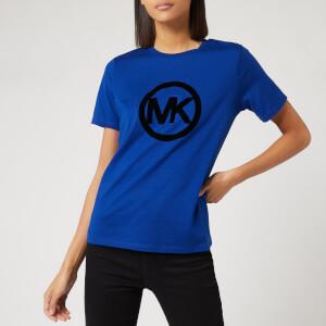 MICHAEL MICHAEL KORS Women's Circle Logo Flock T-Shirt - Twilight Blue