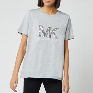 MICHAEL MICHAEL KORS Women's Logo Sequin T-Shirt - Peak Heather