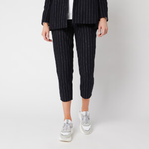 Superdry Women's Edit Sapporo Pants - Navy Stripe