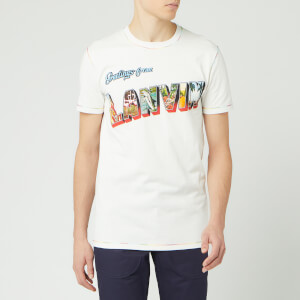Lanvin Men's Print Short Sleeve T-Shirt - White