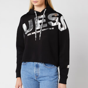 Guess Women's Isadora Fleece Hoody - Jet Black