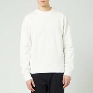 Y-3 Men's Back Logo Crew Neck Sweatshirt - White