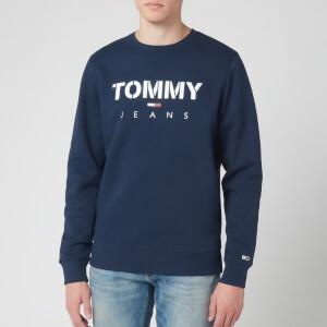 Tommy Jeans Men's Novel Logo Sweatshirt - Black Iris