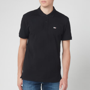 Tommy Jeans Men's Solid Stretch Polo Shirt - Tommy Black