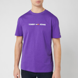 Tommy Jeans Men's Straight Small Logo T-Shirt - Royal Purple