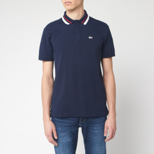 Tommy Jeans Men's Classics Tipped Polo Shirt - Black Iris