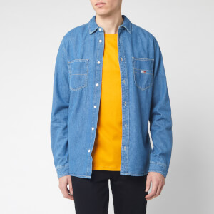 Tommy Jeans Men's Denim Long Sleeve Shirt - Mid Indigo