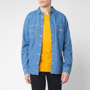 Tommy Jeans Men's Denim Long Sleeve Shirt - Mid Indigo