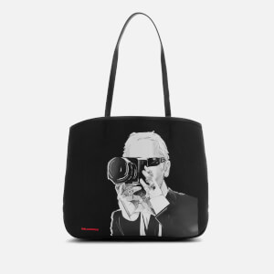 Karl Lagerfeld Legend Collection Women's Karl Legend Photographer Canvas Tote Bag - Black