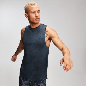 MP Training Heren Distressed Drop Armhole Tank Top - Ink
