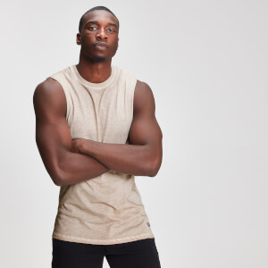 Miesten Myprotein Graphic Drop Armhole Tank Top - Dune