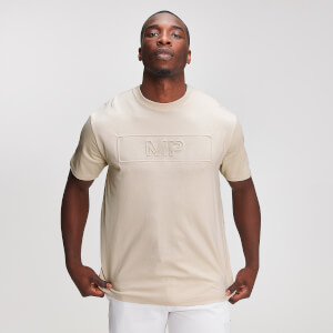 MP Graphic Men's Embossed T-Shirt - Dune