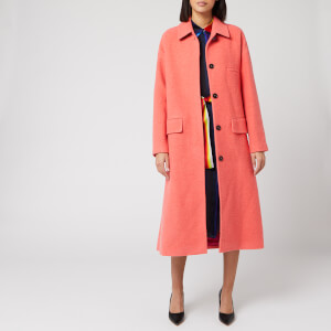 PS Paul Smith Women's Long Line Coat - Peach