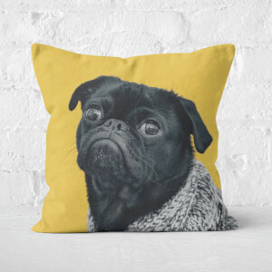Cosy Pug Square Cushion