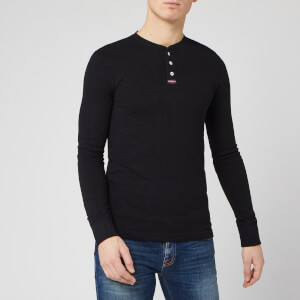 Superdry Men's Legacy Long Sleeve Grandad Top - Vintage Black