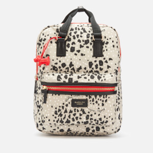 Radley Women's Leopard Oilskin Large Ziptop Backpack - Aluminium