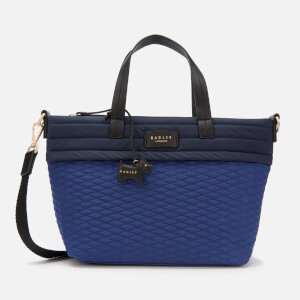 Radley Women's Penton Mews Colour Block Medium Ziptop Grab Multiway Bag - Sapphire
