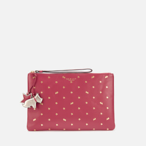 Radley Women's Regents Row Medium Zip Top Clutch Bag - Raspberry