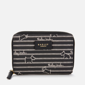 Radley Women's Radley Stripe Medium Zip Around Purse - Black