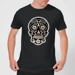 Day Of The Dead Skull Men's T-Shirt - Black