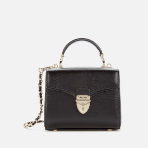 Aspinal of London Women's Mayfair Micro Lizard Bag - Black