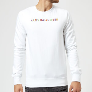 Colourful Happy Halloween Sweatshirt - White