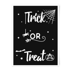 Trick Or Treat Spider Art Print