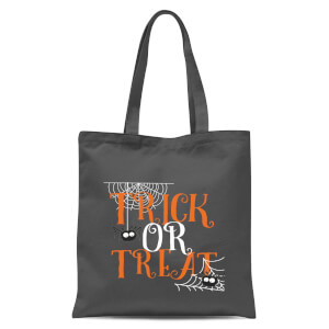 Trick Or Treat Tote Bag - Grey
