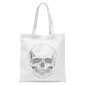 Skull Tote Bag - White