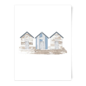 Wooden Beach Hut Art Print