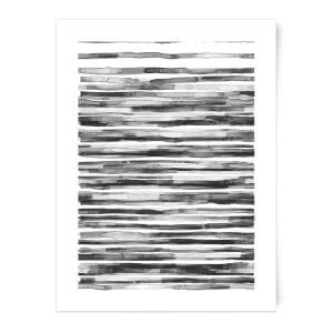Wood Texture Water Colour Art Print