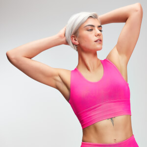 MP Women's Power Longline Sports Bra - Super Pink