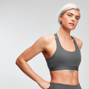 MP Power Women's Cross Back Sports Bra - Slate